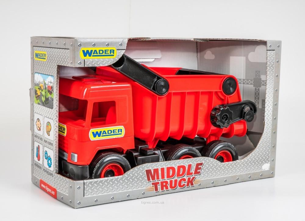 Іграшковий Самоскид червоний Middle Truck Wader