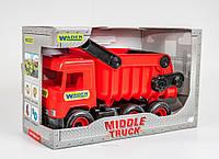Игрушечный Самосвал красный Middle Truck Wader