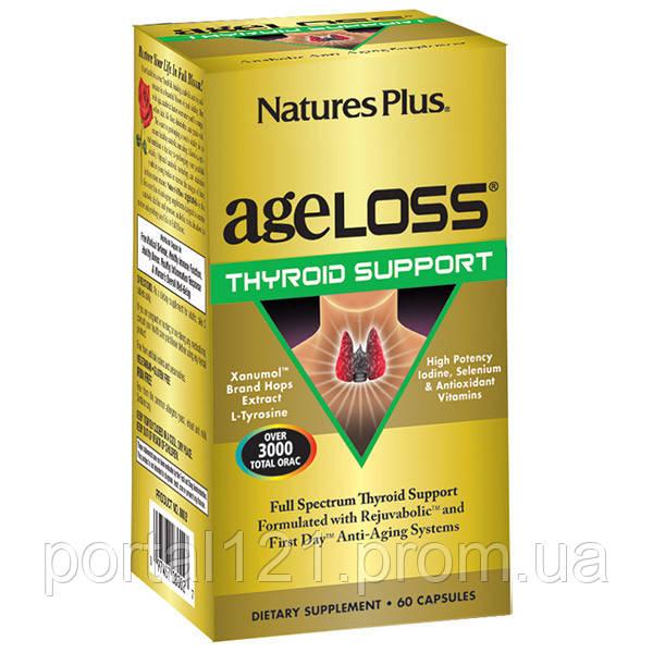 Комплекс для Поддержки Щитовидной Железы, AgeLoss, Natures Plus, 60 капсул