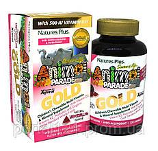 Мультивітаміни для Дітей, Смак Кавуна, Animal Parade Gold, Natures Plus, 120 жувальних таблеток