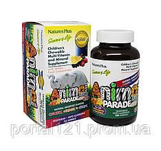 Мультивітаміни для Дітей, Смак Асорті, Animal Parade, Natures Plus, 180 жувальних таблеток
