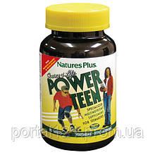 Мультивітаміни для Підлітків, Power Teen, Natures Plus, 90 таблеток