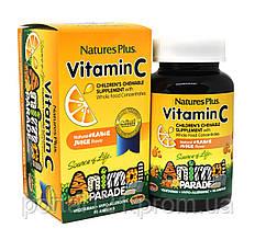 Вітамін С для Дітей, Смак Апельсина, Animal Parade, Natures Plus, 90 жувальних таблеток