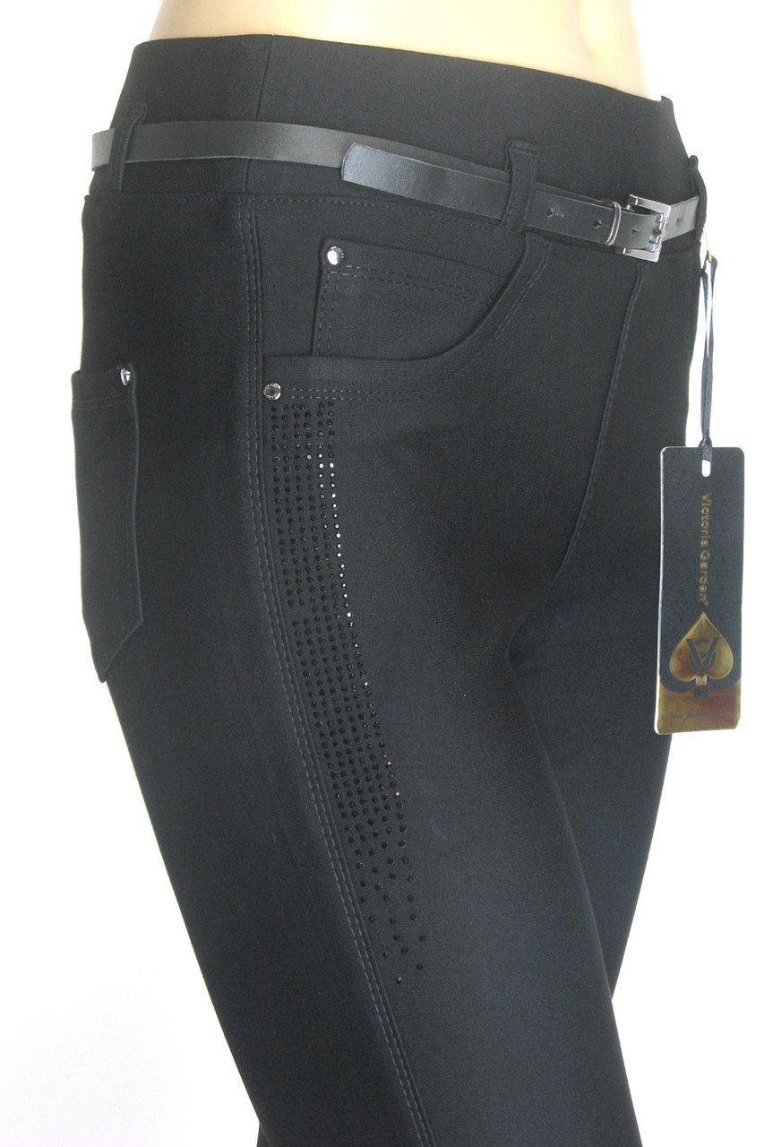 Теплі чорні жіночі брюки турція