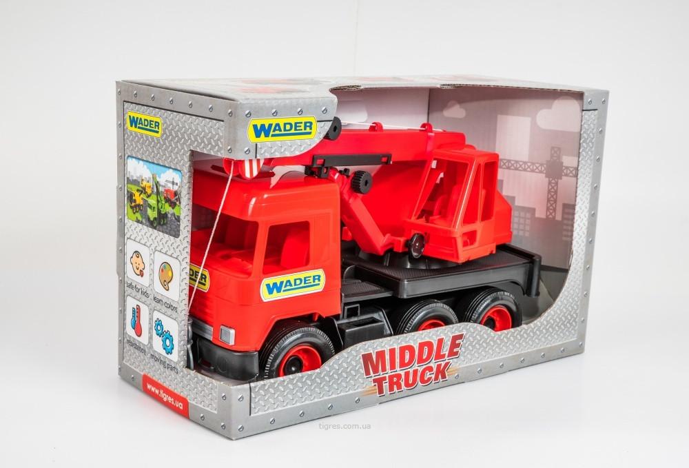 Кран дитячий червоний Middle truck Wader