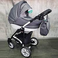 """Универсальная всесезонная детская коляска 2 в 1 """"Lorex"""" Grey"""