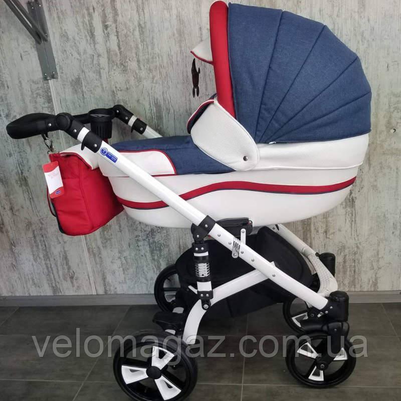 """Всесезонная детская коляска 2 в 1 """"MACAN"""" Blue-red"""
