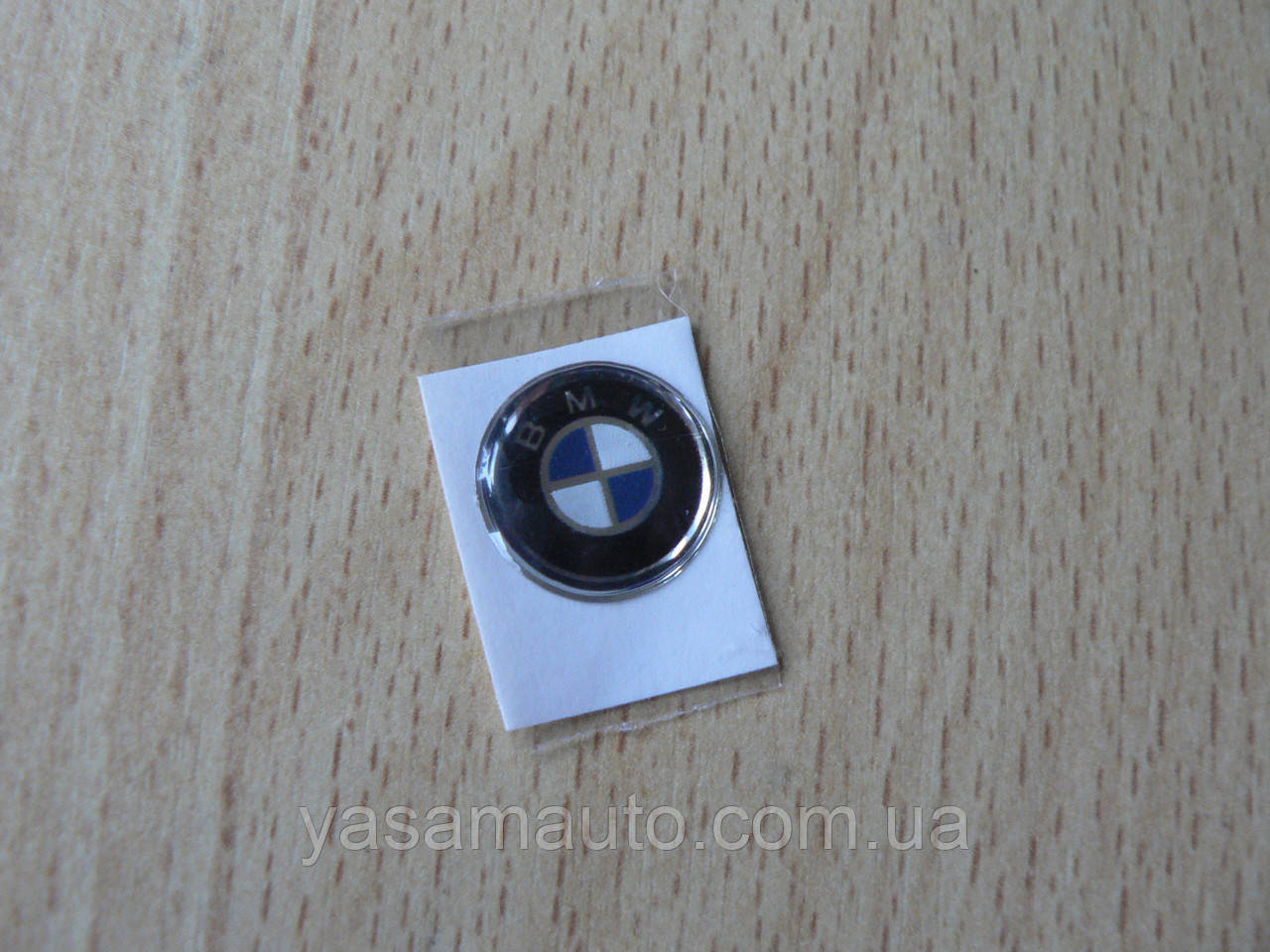 Наклейка s круглая BMW 15х15х1.3мм стандарт силиконовая эмблема в круге на авто ключи сигнализацию БМВ
