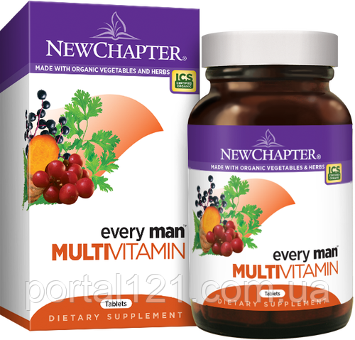 Мультивитамины для Мужчин, Every Man, New Chapter, 48 таблеток