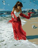Картина по номерам Menglei MG1059 Прогулка по пляжу  40 х 50 см, фото 1