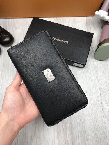 5d8985c665ff ... Кожаный кошелек Dolce & Gabbana черный клатч с декором пчелой кожа  женский мужской бумажник Дольче реплика ...