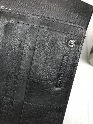 8e3616361a55 ... Кожаный кошелек Dolce & Gabbana черный клатч с декором пчелой кожа  женский мужской бумажник Дольче реплика