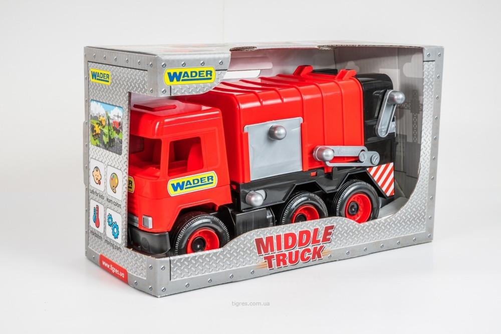 Іграшковий сміттєвоз червоний Middle Truck Wader