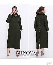 Платье женское теплое большие размеры 52,54,56,58, фото 3