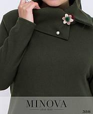 Платье женское теплое большие размеры 52,54,56,58, фото 2
