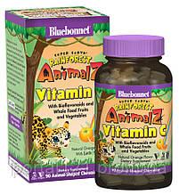 Вітамін С для Дітей, Смак Апельсина, Rainforest Animalz, Bluebonnet Nutrition, 90 жувальних цукерок