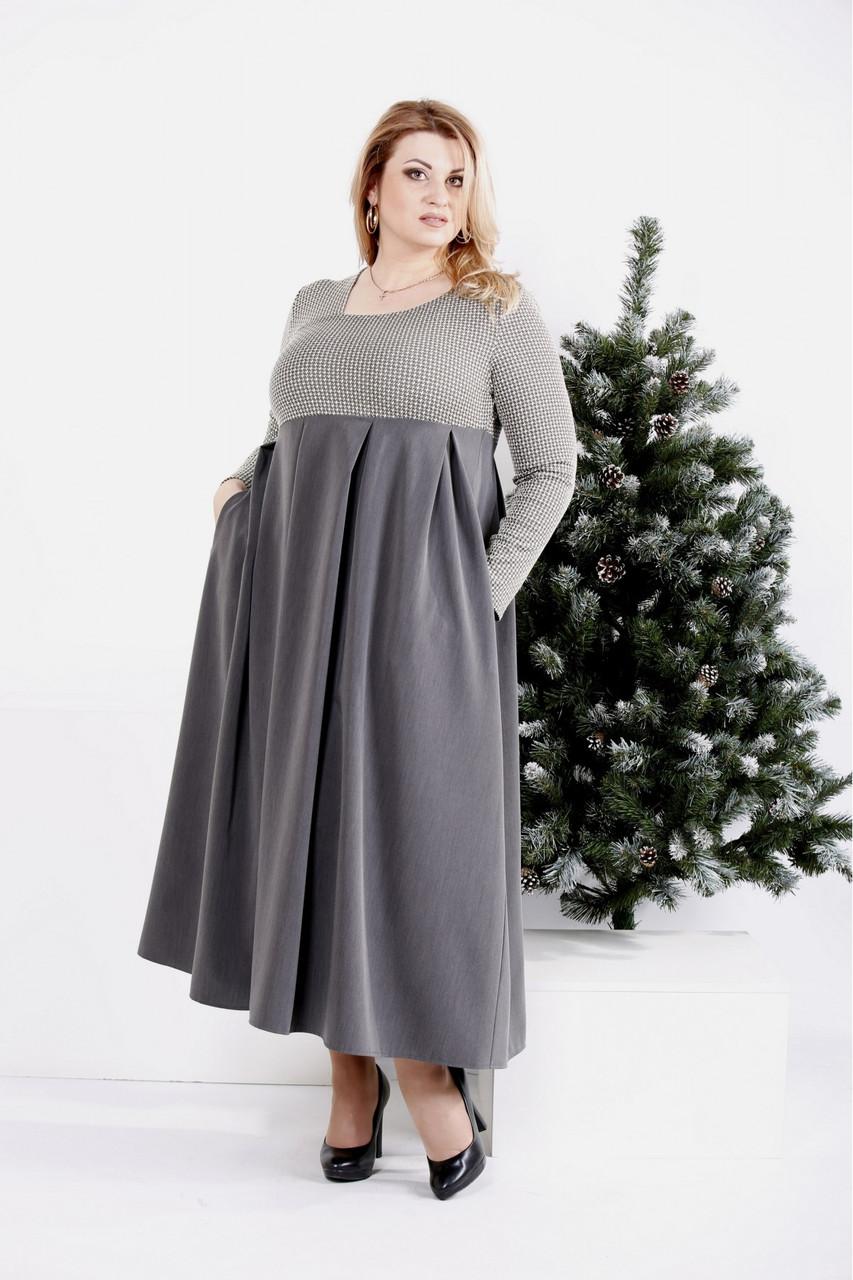 Женское платье макси размеры: 42-74
