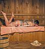 Простынь для бани и сауны, 107*150см (бязь персиковая)