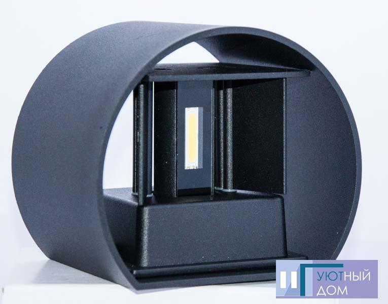 Светодиодный светильник Feron DH013 чёрный 2х3W
