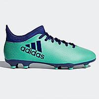 Бутсы Adidas X 17.3 Junior FG Football Boots AeroGreen Ink - Оригинал c2f68d3fd21ab