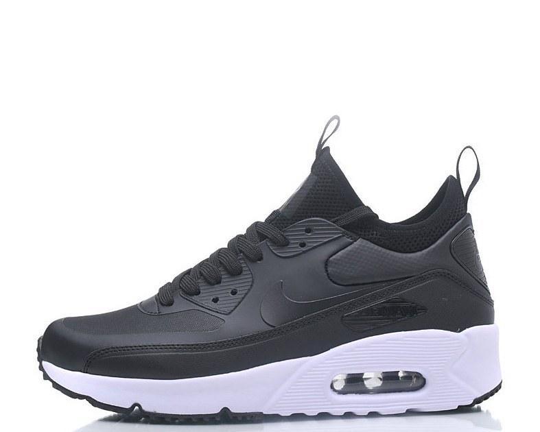 05b2658c177034 Кроссовки Найк Nike Air Max 90 Ultra Mid Winter Black Найк Аир Макс Черные  с термоноском