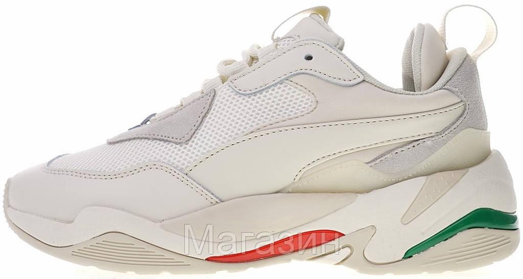 Женские кроссовки Puma Thunder Spectra Whisper White Пума в стиле бежевые с белым