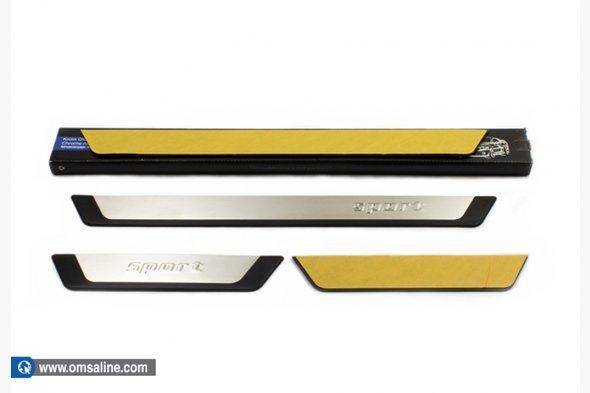 Накладки на пороги (4 шт) - Fiat Linea 2006+ и 2013+ гг.