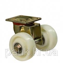 """Колесо 4502-MTS2-125-B(45 """"Medium Top Special 2"""") Ø 125мм, подвійне поворотне посилене з кріпильною панеллю"""