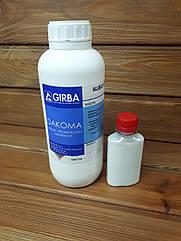 Краска для запайки среза кожи GIRBA NUBIO разливной 100мл цвет Белый