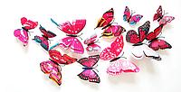 Об'ємні 3D метелики на стіну (шпалери) для декору