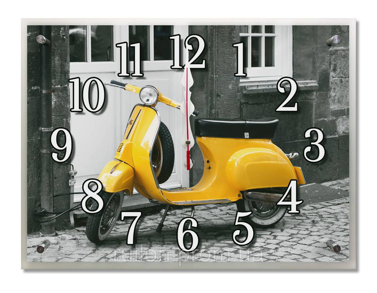 Часы настенные с картиной под стеклом YS-Art 30х40см (PB012)
