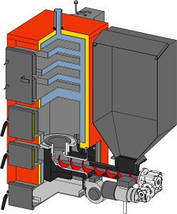 Altep твердотопливный котел длительного горения Альтеп КТ-2E-SH 62 кВт, фото 2