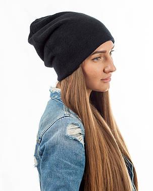 Зимняя шапка чулок черная, фото 2