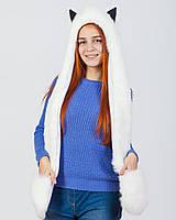 Волкошапка zinamagazin S-M-L белая в594