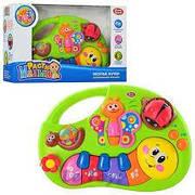 Развивающая музыкальная игрушка пианино для малыша Веселые жучки