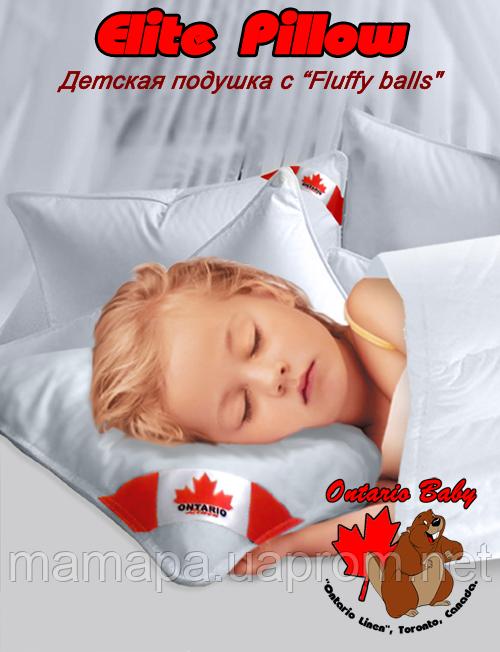 60х40 Ontario Elite Pillow 400 кант Детская подушка от 2 лет и старше, фото 1
