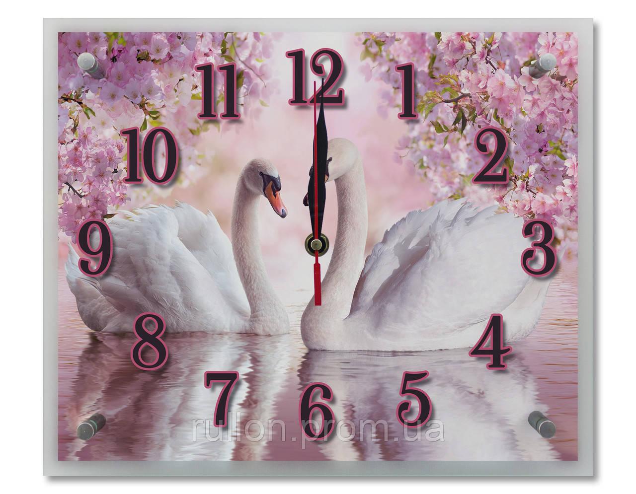 Часы настенные с картиной под стеклом YS-Art 25х30см (PR002)