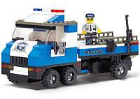 Конструктор Полицейская серия - Автомобиль для перевозки катера 202дет. М38-В0186
