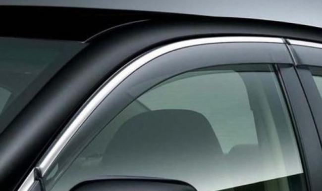 Ветровики с хромом (4 шт, Niken) - Fiat Linea 2006+ и 2013+ гг.