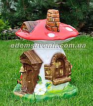 Садовая фигура Гриб-дом большой, фото 3