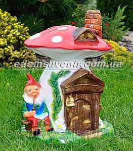 Садовая фигура Гриб-дом большой