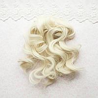 Волосы для кукол в трессах легкая волна, жемчужный - 15 см