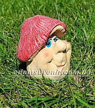 Садовая фигура Грибочек веселый средний, фото 3