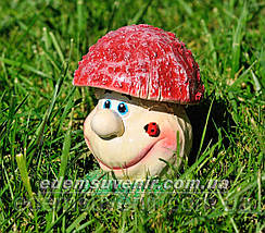 Садовая фигура Грибочек веселый малый, фото 2