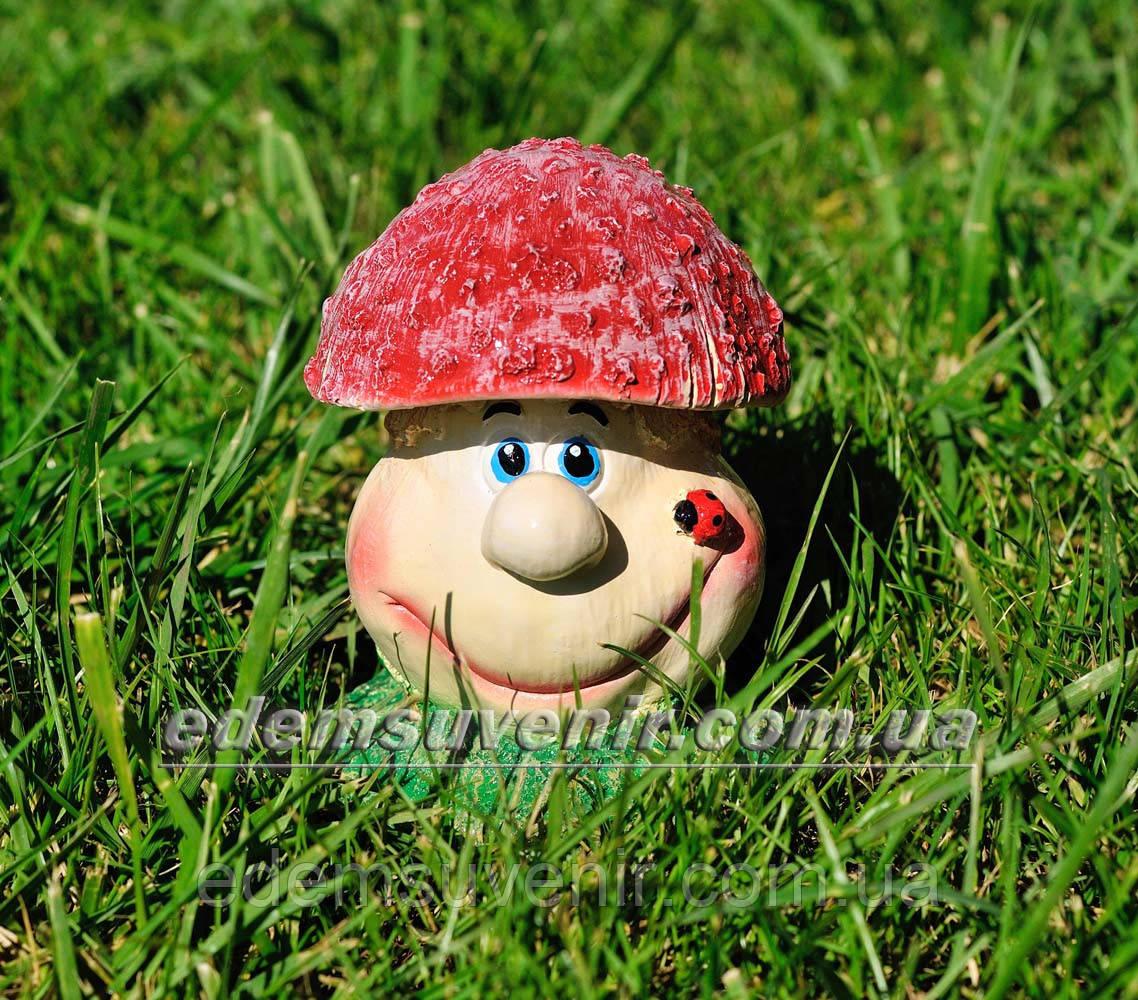 Садовая фигура Грибочек веселый малый
