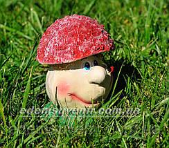 Садовая фигура Грибочек веселый малый, фото 3