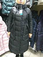 ce3fe6fda5a Зимнее длинное пальто пуховик больших размеров батал Mishele 19092