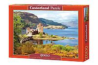 """Пазлы Castorland 2000 - """"Замок Эйлен-Донан. Шотландия"""". Быстрая доставка. Производство Польша."""