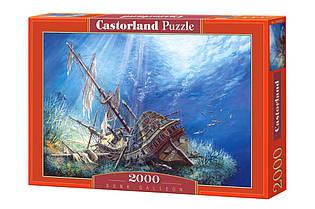 """Пазлы Castorland 2000 - """"Затонувший галеон"""". Быстрая доставка. Производство Польша. Гарантия качества."""