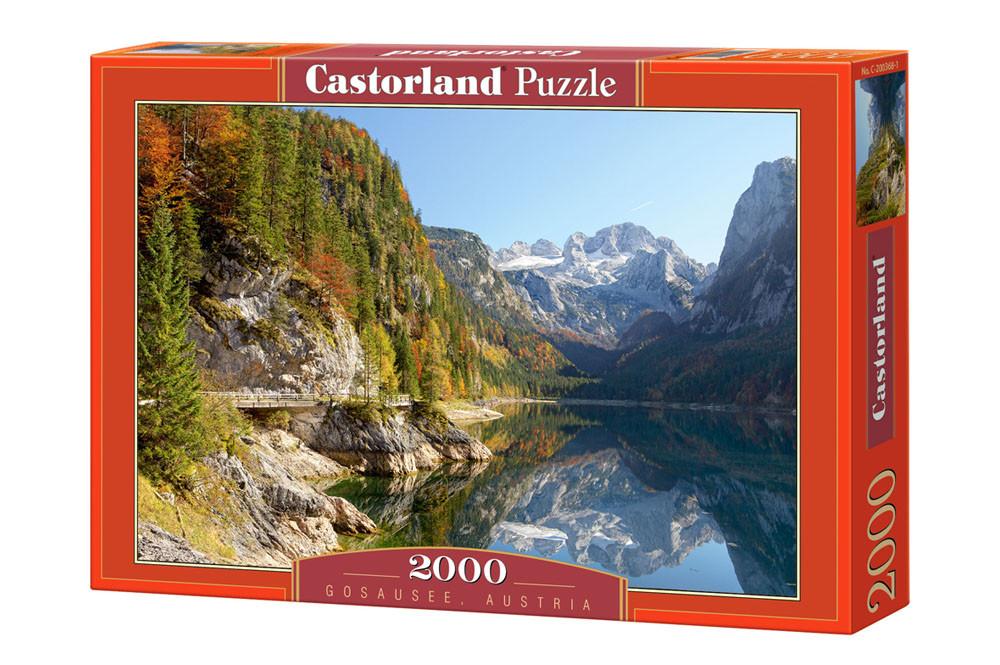 """Пазлы Castorland 2000 - """"Гозаузее. Австрия"""". Быстрая доставка. Производство Польша. Гарантия качества."""